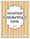 Thanksgiving: November Handwriting Cards