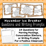 Class Meeting Questions: November