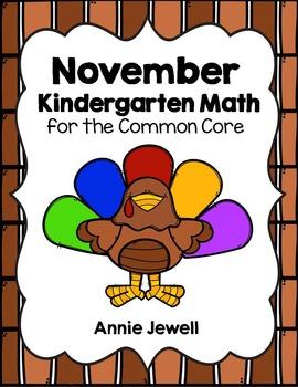 Thanksgiving and November Kindergarten Math Activities and Worksheets