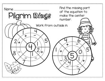 Thanksgiving November Math for Kindergarten - NO PREP Packet