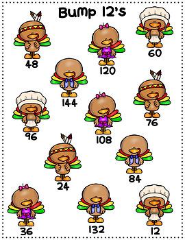 Thanksgiving/November Multiplication Bump Games