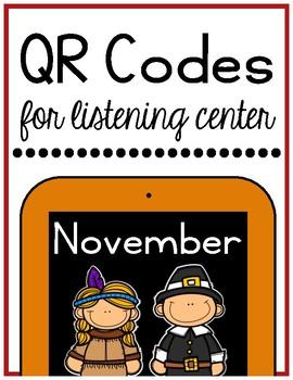 Thanksgiving/November QR Codes for Listening Center