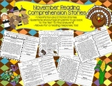Thanksgiving/November Reading Comprehension-6 pages of reading practice!