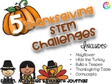 Thanksgiving November Fall STEM activities - 5 activities and student journals