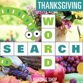 Thanksgiving November Word Search - Primary Grades - Wordsearch Puzzle