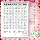 Thanksgiving Word Search Puzzle - 3 Levels Differentiated