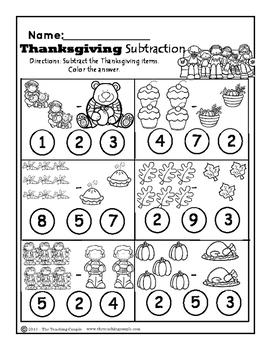 Thanksgiving November and Christmas December NO PREP Math Pack