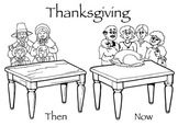 Thanksgiving Now & Then Activity Packet