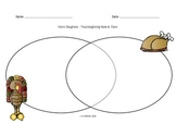 Thanksgiving Now and Then Venn Diagram