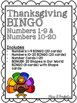 Thanksgiving Number BINGO