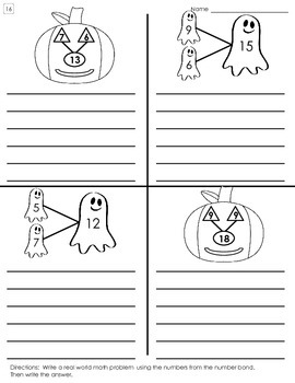 Halloween Number Bond Worksheets