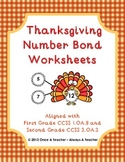 Thanksgiving Number Bond Worksheets