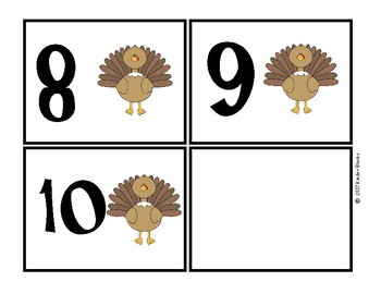 Thanksgiving Number Cards 0-10