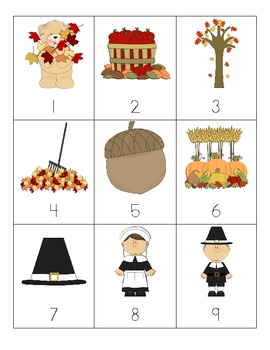Thanksgiving Number Cards