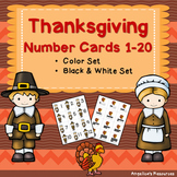 Thanksgiving Activities - Math: Number Sense Cards 1-20