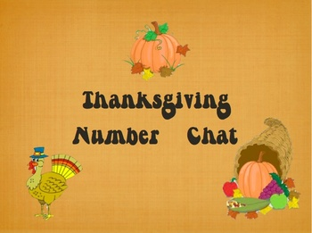 Thanksgiving Number Chat 2 POWERPOINT***