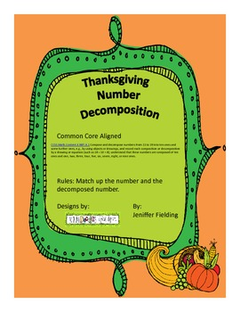 Thanksgiving Number Decompostion Through 20