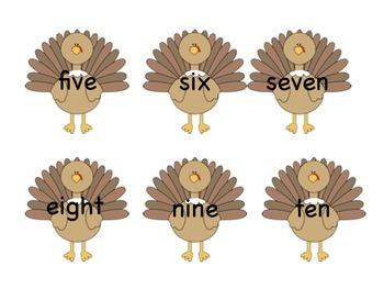Thanksgiving Number File Folder Game