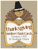 Thanksgiving Number Flash Card & Hundreds Charts