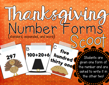 Thanksgiving Number Forms Scoot