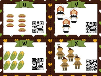 Thanksgiving Number ID Task Card QR Code SCOOT