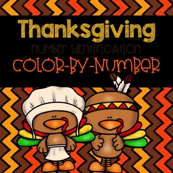 Thanksgiving Number Identification Color-By-Number