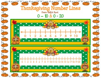 Thanksgiving Number Lines