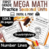 Digital Thanksgiving Google Slides Number Lines Math Pract