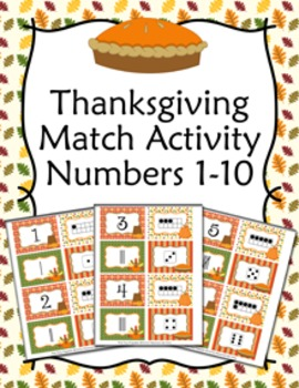 Thanksgiving Number Match Activity
