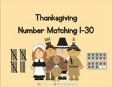 Thanksgiving Number Matching Game