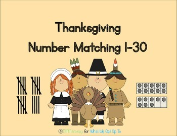Thanksgiving Number Matching Game