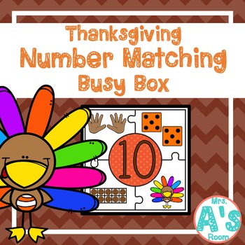 Thanksgiving Number Matching Puzzles Busy Box