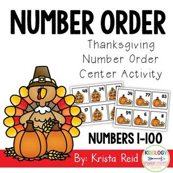 Thanksgiving Number Order