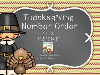 Thanksgiving Number Order FREEBIE