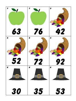 Thanksgiving Number Order, Least to Greatest, Ordering Numbers