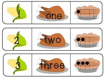 Thanksgiving Number Puzzles (1-20)