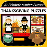 Thanksgiving Number Puzzles 20 Counting Puzzles 1-10 Skip