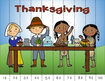 Thanksgiving Number Puzzles (Counting & Skip-Counting)