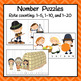 Thanksgiving Number Puzzles for Skip and Rote Counting