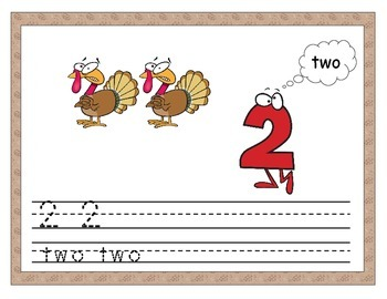 Thanksgiving Number Recognition and Counting