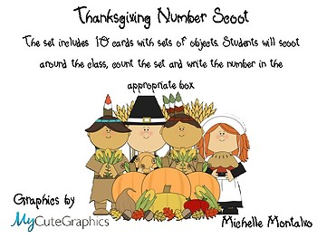 Thanksgiving Number Scoot
