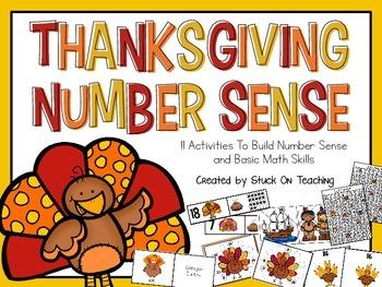 Thanksgiving Number Sense