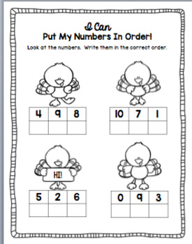 Thanksgiving Number Sense Activities