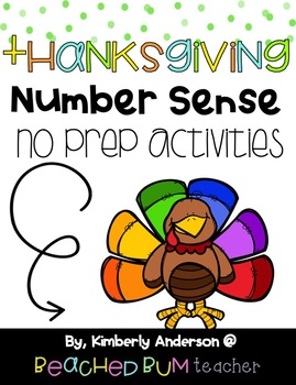 BUNDLE: Thanksgiving Number Sense Mental Math: Differentiated (3 Products)