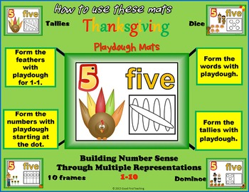 Thanksgiving Number Sense Playdough Mats Bundle