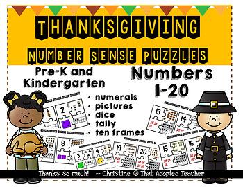 Thanksgiving Number Sense Puzzles