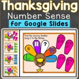 Thanksgiving Number Sense to 20 Google Classroom Digital D