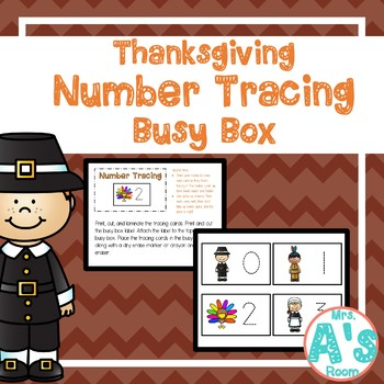 Thanksgiving Number Tracing Busy Box