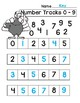 Thanksgiving Number Tracks Digits 0 - 5 and 0 - 9