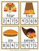Thanksgiving Number Words Clip Cards